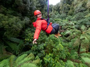 Woman-on-zipline-above-the-forest